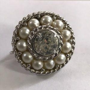 Sarah Conventry Clip On Earrings Pearl Wedding SAC